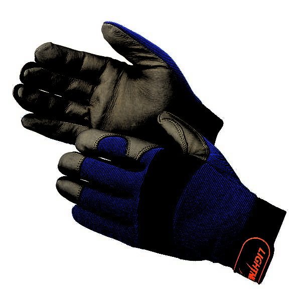 UGM0914BL Premium Grain Pig Skin Palm Mechanic Gloves