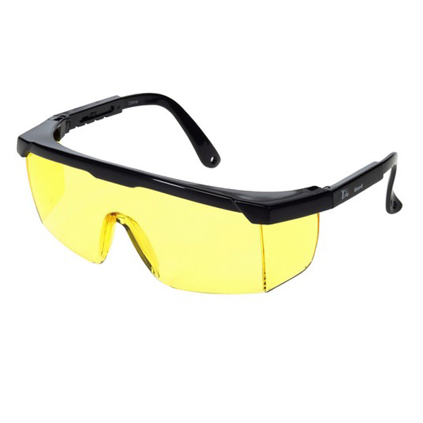 Amber Lens With Black Frame Safety Glasses