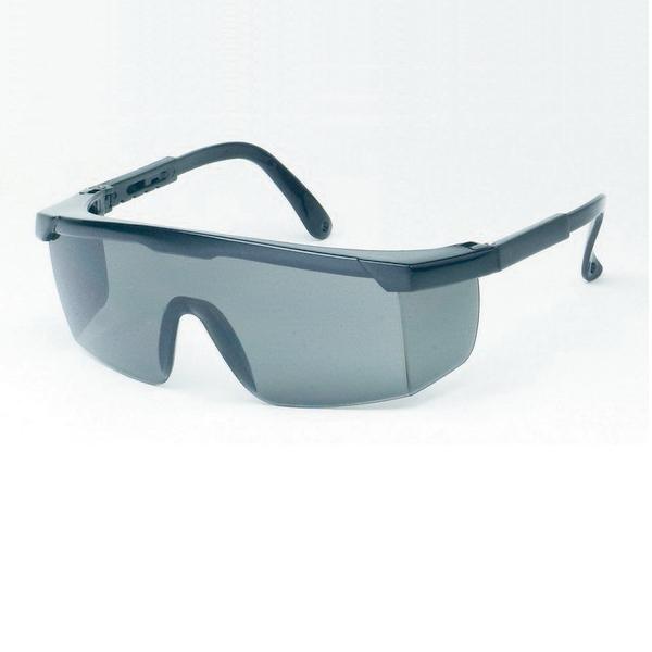 Gray Lens With Black Frame Safety Glasses
