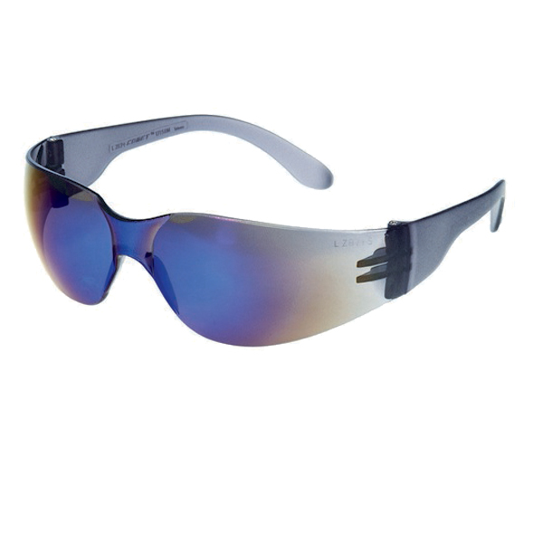 Blue Mirror Lens With Black Frame Safety Glasses