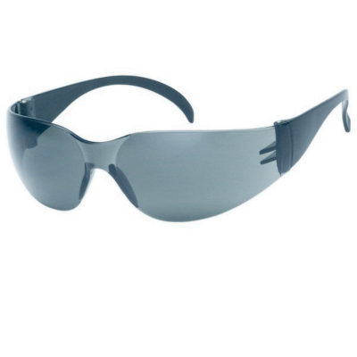 Gray Lens With Black Frame Safety Glasses