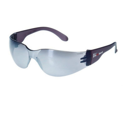 Silver Mirror Lens With Gray Frame Safety Glasses