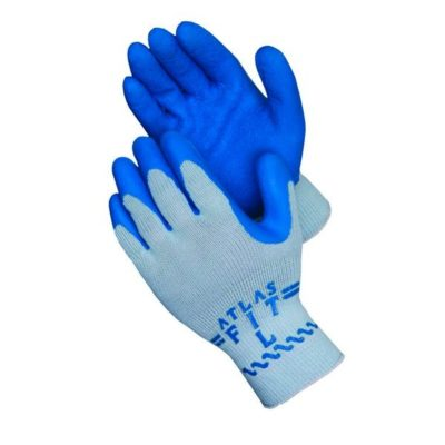 SHOWA ATLAS FIT 300 Blue Latex Palm Coated Gloves