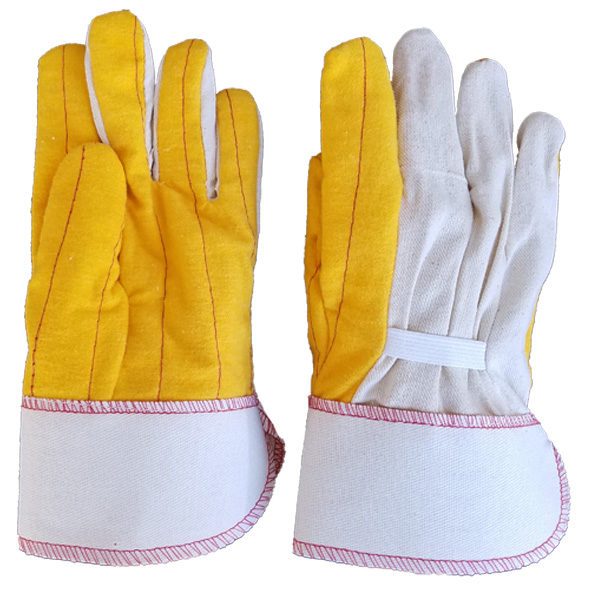 PIEDMONT DPY18SCE Double Palm With Canvas Back Gloves