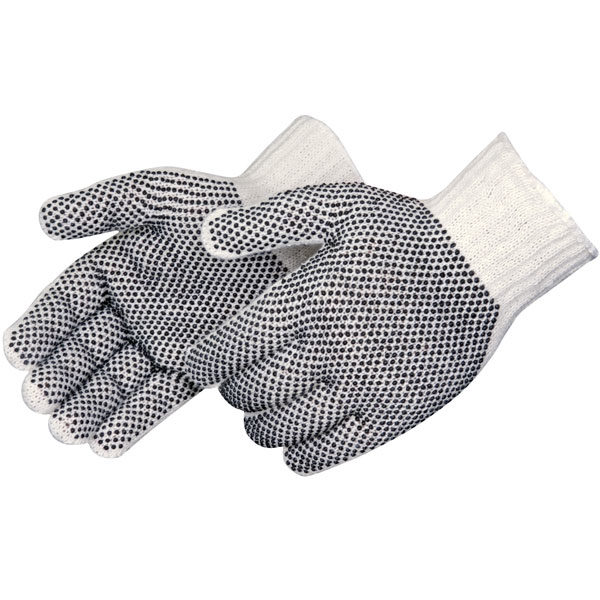 PIEDMONT K326PD Seamless Knit 100% Cotton Ambidextrous PVC Doted Gloves