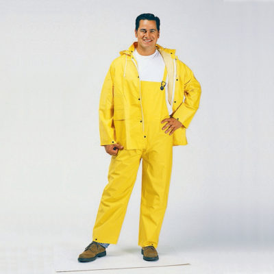Poly Yellow Rain Suit